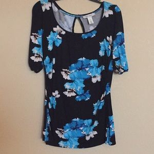 WHBM Floral Top